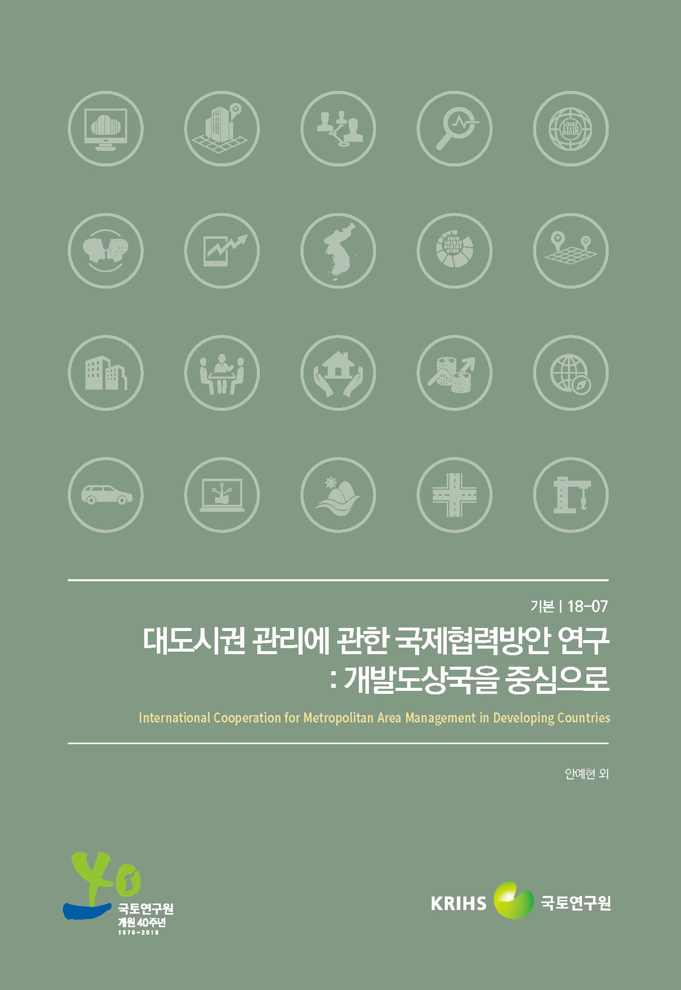 대도시권 관리에 관한 국제협력방안 연구: 개발도상국을 중심으로표지
